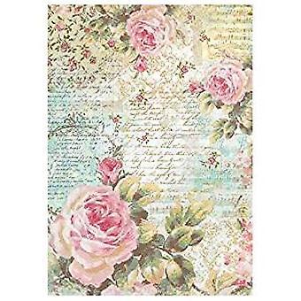 ستامبريا رايس ورقة A4 وردة &; كتابات (DFSA4204)