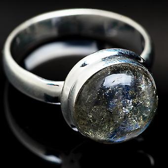 Labradorite Ring Size 6.25 (925 Sterling Silver)  - Handmade Boho Vintage Jewelry RING3776