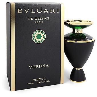 Bvlgari Le Gemme Reali Veridia Eau De Parfum Spray von Bvlgari 3,4 oz Eau De Parfum Spray