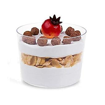 30 Verrine Cups 180 Ml Made Of Transparent Plastic Wide Opening Ideal For Serving Pudding Ice Cream Dessert Parties