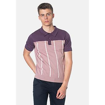 Merc MARBLE, Colour Block Knitted Men's Polo Shirt