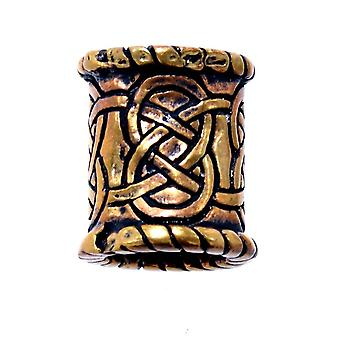 Beard bead celine knot 8 mm - bronze