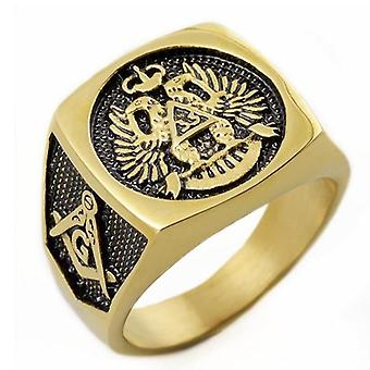 33 degree scottish rite gold masonic ring