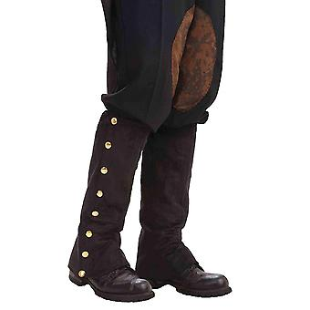 Forum Novelties Men's Adult Steampunk Suede Spats Kostuum Accessoire, Zwart, O...