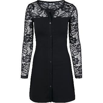 Urban Classics Femme Jersey Robe en dentelle Block Robe
