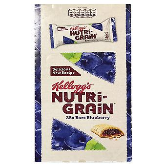 Pack of 25 Kellogg's Nutrigrain 37g Bars, Blueberry, Pack of 25, 9999243-BLUEB