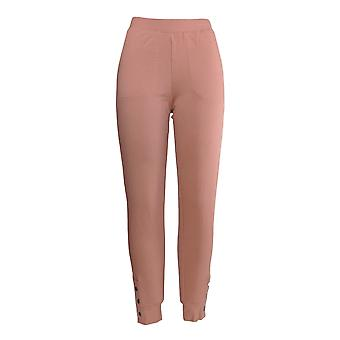 Denim and Co. Women-apos;s Petite Pants (XXSP) Active Ankle Snap Cuff Pink A374608