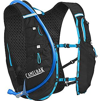 CamelBak Ultra 10 - Mountain Gilet with Unisex-Adult Tank - Black/Atomic Blue - One Size