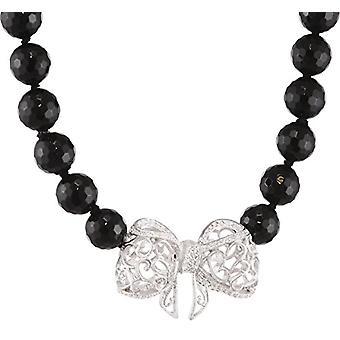 MISIS Woman-Necklace Bon TON Silver 925 White Zirconi Onnice 45 cm - CA07280