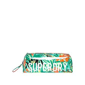 Superdry Women's Jelly Pencil Case Cosmetic Bag Green 20Cm