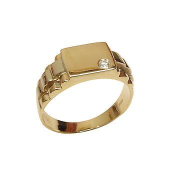 Bicolor gouden heren cachet ring