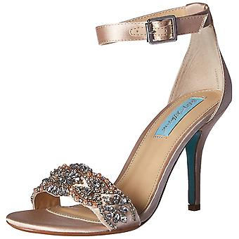 Betsey Johnson Womens Gina Fabric Open Toe Casual Ankle Strap Sandals