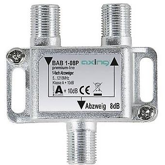 Axing BAB 1-08P Cable TV splitter 1-way 5 - 1218 MHz