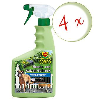 Sparset: 4 x COMPO Dog and Cat Scare, 500 ml