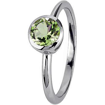 Jacques Lemans - Sterling Silver Ring med Peridot - SE-R101B52 - Ring bredd: 52