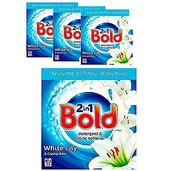 Bold 2 in 1 Laundry Detergent & Fabric Softener, 1450g, 22 Washes x 4, White Lily