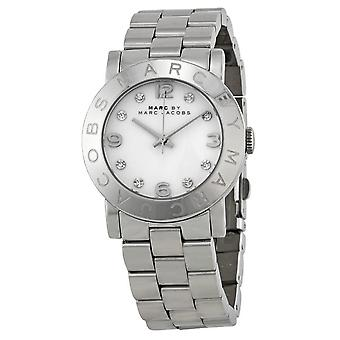 Marc Jacobs MBM3054 Quartz with Silver Dial Analogue Display and Silver Stainless Steel Bangle Ladies Watch