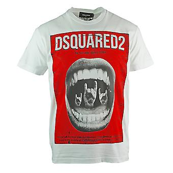 Dsquared2 Cool Fit Punk Rock Hvid T-shirt