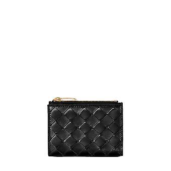 Bottega Veneta 608059vcpp38648 Women's Black Leather Wallet