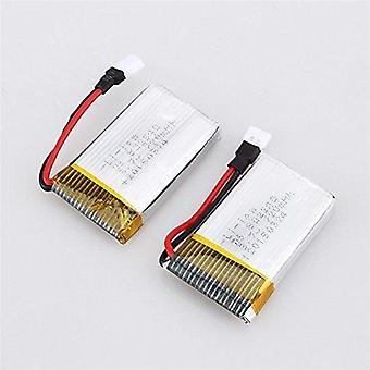2 Stück Lipo Batterie 3.7v, 720mah rc drohnen syma x5x5c x5sc x5sw, cheerson cx-30w, skytech m68