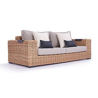 Polyrattan Sofa Molly 235 cm - honig