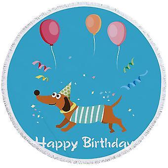عيد ميلاد سعيد الكلب بيتش منشفة