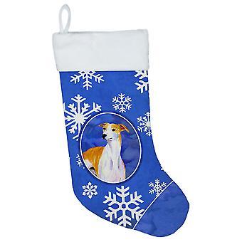 Whippet vinter snefnug snefnug ferie Christmas strømpe