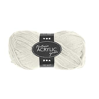 50g 3-Ply Off White Acrylic Yarn for Kids Knitting and Sewing Crafts