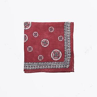 Circolo 1901 - Big Circle Print Pocket Square - Red