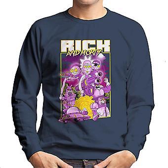 Rick og Morty plakat design mænd ' s sweatshirt