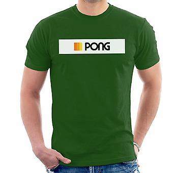 Atari Pong Stripe Logo Menn's T-skjorte