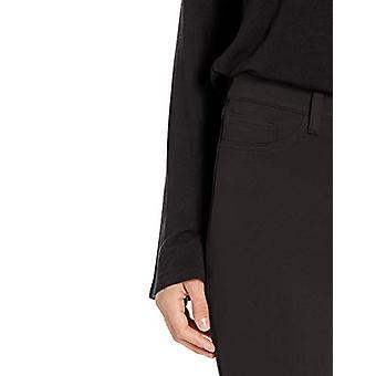Brand - Daily Ritual Women's Ponte Faux-5 Pocket Flat-Front Legging, Black, X-Large