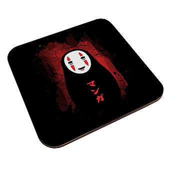 Spirited Away No Face Red And Black Coaster