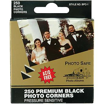 "Premium Photo Corners Self-Adhesive .5"" 250/Pkg-Black"