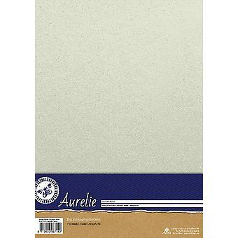 Aurelie Vintage Metallinen Cardstock Valkoinen