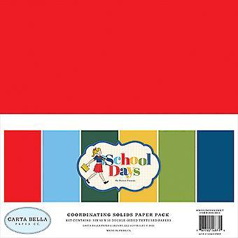 カルタベラスクールデイズ12x12インチコーディネートソリッド紙パック