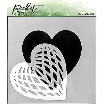 Picket Fence Studios Spliced Heart Stencil