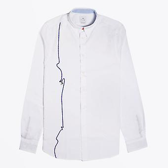 PS Paul Smith  - Embroidered 'Climbing Rope' Shirt - White