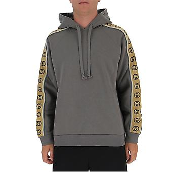 Gucci 596230xjbuw1233 Men's Grey Cotton Sweatshirt