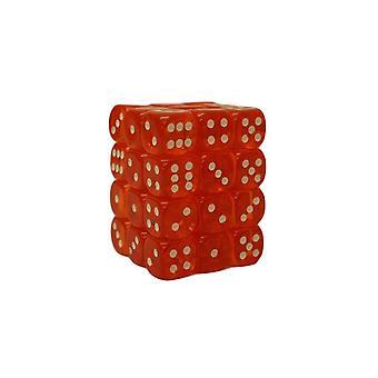 Chessex Translucent Orange/white 12mm D6 Block