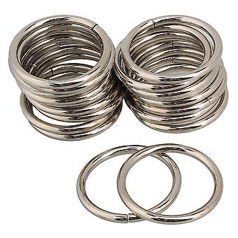 20pcs Silver Color Metal Ring Retaininger Bag Sac Buckle 3.8cm