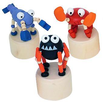 En bois Wobblers Creepy Critters - Wooden Push Up Toys - Article cadeau
