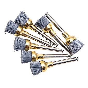 10pcs Dental Polishing Brush Of Silicon Carbide Material Latch - Flat Bowl Teeth Polisher Prophy Brushes