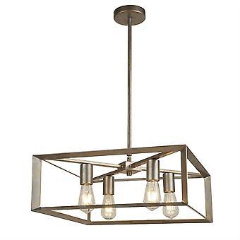 Søgelys Heaton - 4 Light Pendant Sølv, Guld, E27