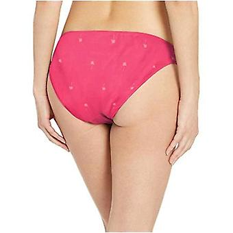 Essentials Women's Side Tab Bikini Swimsuit Bottom, Pink Palm Trees, M