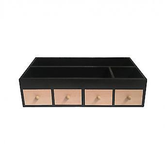 Rebecca Furniture Holder Organizador Table Light Wood Black 16x50x20