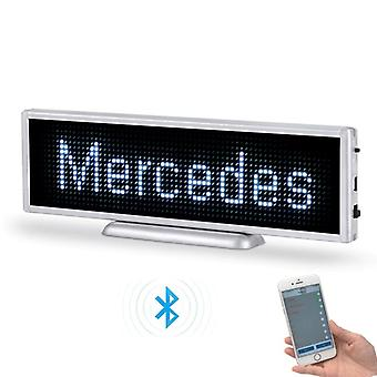 Bluetooth Rechargeable Led Display Portable Scrolling Screen Car Desktop Or Hanging Sign
