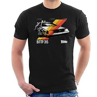 Takaisin tulevaisuuteen 35-vuotisjuhla Delorean Stripes Men's T-paita