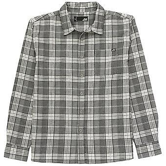 Lost enterprises louis woven flannel shirt - grey