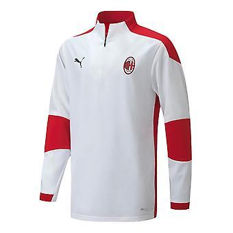2020-2021 AC Milan Half Zip Training Top (White)